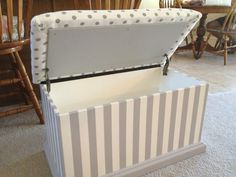 Image result for how to make a seat cushion for a toy box