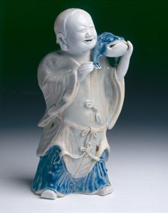 Chinese export porcelain model of the Taoist immortal LIU HAI. Circa 1740, Qianlong reign, Qing dynasty - SOLD