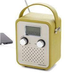 Crosley radio. Estilo vintage, ¡súper cool!