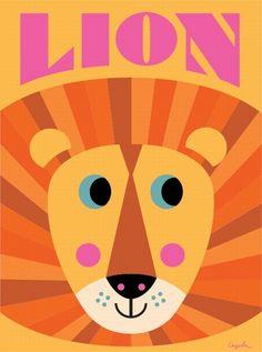 #Poster #Lion 50 x 70 by #Ingela P #Arrhenius from www.kidsdinge.com https://www.facebook.com/pages/kidsdingecom-Origineel-speelgoed-hebbedingen-voor-hippe-kids/160122710686387?ref=hl