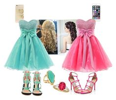 Best friends at prom!! by cheyennelohr on Polyvore featuring polyvore, fashion, style, ALDO, Jimmy Choo and ABS by Allen Schwartz
