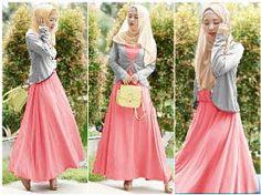 Baju muslim remaja syar'i terbaru kezia gamis KL05 pink