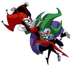 Harley quinn y joker Batman Cartoon, Batman Vs, Comic Villains, Dc Comics Characters, Joker Dc, Joker And Harley Quinn, The Batman 2004, Hahaha Joker, Daddys Lil Monster
