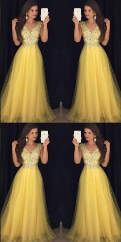 Pretty Beading V Neck Long Yellow Prom Dresses, Formal Evening Gowns,Evening Party Dresses, Shop plus-sized prom dresses for curvy figures and plus-size party dresses. Ball gowns for prom in plus sizes and short plus-sized prom dresses for Pretty Prom Dresses, V Neck Prom Dresses, Prom Dresses 2018, Gala Dresses, Sexy Dresses, Bridesmaid Dresses, Formal Dresses, Wedding Dresses, Party Dresses
