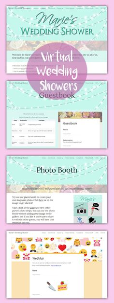 Host A Virtual Wedding Shower With Your Own Personalized Event Website Sign The Guestbook