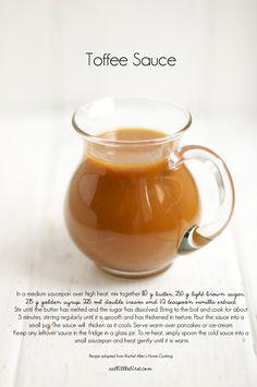 Toffee Sauce. Recipe by Rachel Allen