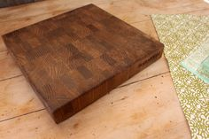 Black Walnut Butcher Block 12x12  Beatiful & by BottlesNWood