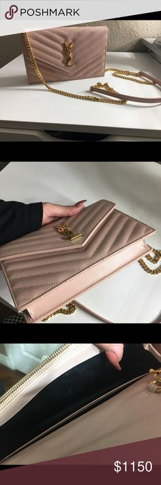 3e581edc Ysl wallet on chain Ysl WOC in pale pink. Selling because I don't