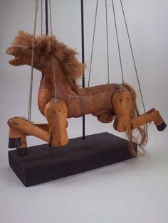 Hand Carved Horse Marionette