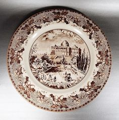 Johnson Brothers HISTORIC AMERICA BROWN Washington DC Capitol Dinner Plate NWT