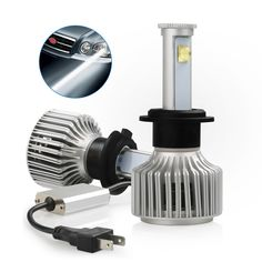 LED Headlight Bulb,Fivanus Super Bright Headlight Bulb Cree X7(H7) 3600 Lumens 40Watt Each Bulb 6000K IP68 Waterproof Car Headlights for Cars with Cool Fan. * You can get additional details at the image link.