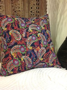 *Q1 SOLD (LR) *Q1 22X22 STILL AVAILABLE - PLUS ADDITIONAL SIZES ~12x24 |||  Vintage Russian cotton print; embroidery and bead work done by Afghan women…an absolute favorite find!  #TU010 Size: 22x22 $158.00 (no insert, standard size) A down 90/10 insert is available for $32.00