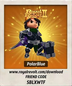 I just got some new gear, check it out!  Download Royal Revolt 2 on your mobile device: www.royalrevolt.com/download    Start the game and get an EPIC reward by entering this friend code: SBLXWTF
