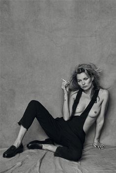 Kate Moss by Peter Lindbergh for VOGUE Italia Jan. 2015