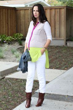 Non maternity wear, as maternity wear.  Plus neon + neutrals