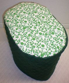Hunter Green Quilted Green Ivy Vine Cover for Keurig K10 and B31 MINI Plus Brewing System