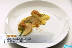 Sheldon Simeon's White Chocolate Mousse with Apple & Fennel