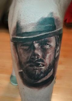 Off the Map Tattoo : Tattoos : Ian Robert McKown : Clint Eastwood For Shannon :)