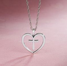 Christ's Love Pendant from James Avery Jewelry #jamesavery. This is my kinda Cross-heart! Omgosh I want this necklace!!!