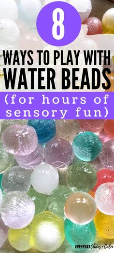 Water beads are a wonderful and fun sensory experience for kids. Here are 8 different water bead activities for kids to help develop things like small motor skills, sorting, and other early childhood development skills for toddlers and preschoolers.