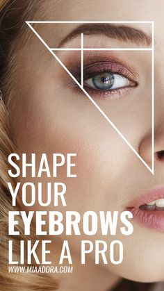 Shape your eyebrows like a pro! Learn how to make perfect style eyebrows at home as a professional. Eyebrow Makeup Tips, Cut Crease Makeup, Eyebrow Pencil, Eye Makeup, Hair Makeup, Makeup Brushes, How To Shape Eyebrows For Beginners, How To Make Eyebrows, Thick Eyebrows