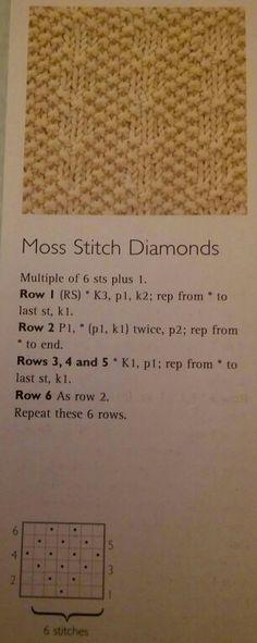 Moss Stitch Diamonds