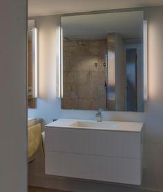 Lámpara de baño cromo y blanco NILO-2 LED ambiente Ideas Para, Bathroom Lighting, Mirror, Furniture, Home Decor, Certificate, Modern Wall, Mirrors For Bathrooms, Wall Sconces