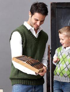 Yarnspirations.com - Patons Unisex Adult: V-Neck Vest - Patterns  | Yarnspirations