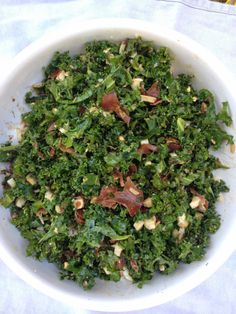 designer bags and dirty diapers: Shredded Kale Salad + Cayenne Balsamic Dressing