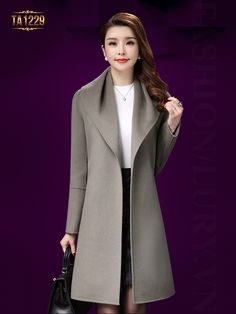 Love the clean look of this coat! Winter Coats Women, Coats For Women, Jackets For Women, Hijab Fashion, Fashion Dresses, Iranian Women Fashion, Tailored Coat, Hijab Style, Poncho