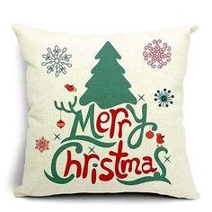 Giftopolis - Merry Christmas Throw Pillow Cushion, $39.99 (http://www.giftopolis.ca/merry-christmas-throw-pillow-cushion/)