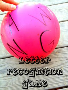 Play Ball! Letter Recognition Game- simple and fun- and great for BOYS!