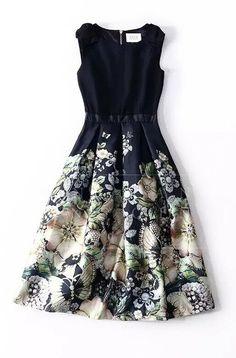 6663ce89e2230d New Ted baker Felcity Gem Gardens Pleated DRESS sz 5 UK 16 https