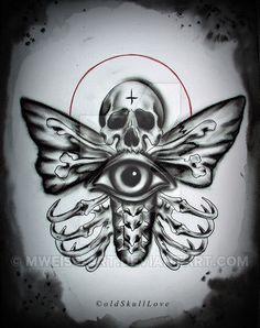 DEATH MOTH tattoo design by MWeiss-Art on DeviantArt