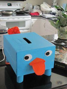 Perry the platypus Valentine's mailbox