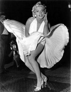 marilyn monroe: el mítico disfraz de la gran diva, Marilyn Monroe, vestido blanco ...