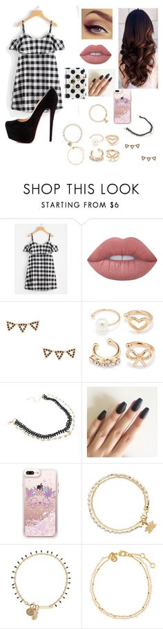 """""""Untitled #571"""" by suandergoncalves on Polyvore featuring Christian Louboutin, Lime Crime, Rebecca Minkoff, Forever 21, WithChic, Casetify, Astley Clarke, Isabel Marant, Accessorize and Charlotte Olympia"""