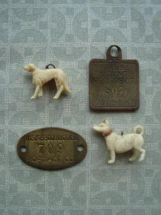Vintage Dog Tags and Charms