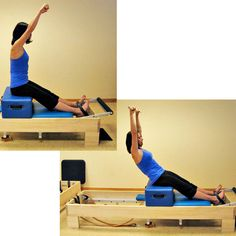 Photo Reference for Beginner Pilates Reformer Workout: Short Box Series - Flat Back with Pole