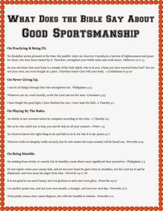 What Does the Bible Say About Sportsmanship? {A March Madness Bible Lesson with Free Printables & Craft} - A Modern Day Fairy Tale Sunday School Lessons, Lessons For Kids, Bible Lessons, Church Games, Kids Church, Sportsmanship Quotes, Game Day Quotes, Sunday Quotes, Devotions For Kids