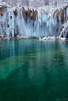 Frozen Plitvice | Upper Falls, Croatia