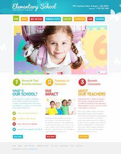 Website Template #41767 Primary School, Elementary Schools, Education Website Templates, Layout Web, Mise En Page Web, Pag Web, Kids Web, School Planner, Homepage Design