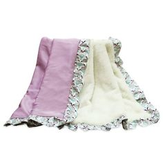 product image for The Peanut Shell® Zoe Velour Blanket in Purple/White