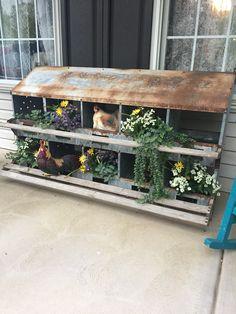 My chicken nesting box planter