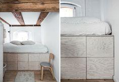 Lav en seng med indbygget opbevaring