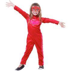 fantasia pjmasks Corujita #fantasia #fantasiapjmasks Fantasia Pj Masks, Blue Jumpsuits, Dark Blue Colour, Red Jumpsuit, Red Gown Dress, Green Jumpsuits, Blue Accents, Black Loafers, Costume Ideas