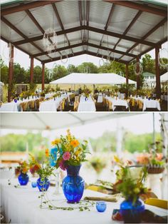 blue vase wedding ideas
