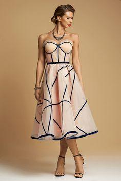 Peach Blush, Cocktail Gowns, Vintage Couture, Silk Organza, Bleu Marine, Black Silk, Suits For Women, Corset, Strapless Dress