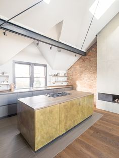 A Shabby Attic Becomes a Chic, Cathedral-Style Living Space #loftconversion #renovation #london #hometour #kitchen