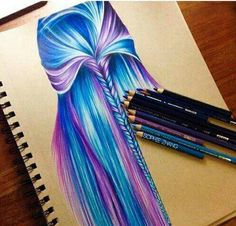 I wish I could draw and colour like this!